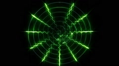 Stock Video Footage of The green display oscilloscope