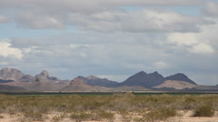 Desert – Landscape with Clouds 3 Stock Footage