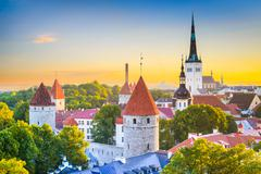 Tallinn Skyline - stock photo