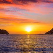 Mallorca port de Andratx sunset in Mallorca - stock photo