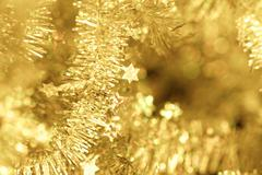 Tinsel - Christmas decoration. - stock photo