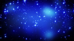 Shining stars on blue falling loopable 4k (4096x2304) Stock Footage