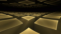 Golden   Cubical   Rotating Perspective Stretching Off To Infinity - stock footage