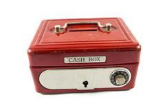 Red cash box - stock photo
