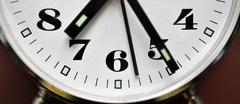Detailed view of the clock - stock photo