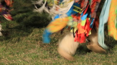 Pow wow feet dancing Stock Footage