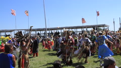 Pow wow arena full of dancers Stock Footage