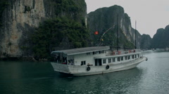 A boat cruise through Ha Long Bay Vietnam  - Clip X5 Stock Footage