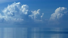 Big Clouds above Sea - stock footage