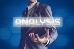 Businessman or Salaryman with Analysis text modern interface concept. Stock Illustration