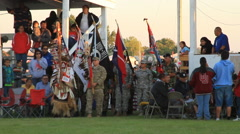 Pow wow grand entry begins Stock Footage