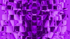 Purple Cubes Squares background, seamless looping Stock Footage