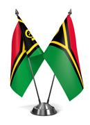 Vanuatu - Miniature Flags Stock Illustration