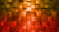 Orange Cubes Squares background, seamless looping Footage