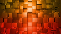 Orange Cubes Squares background, seamless looping Stock Footage