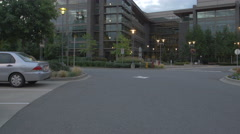 Stock Video Footage of Evening at the Microsoft Commons in Seattle, Washington