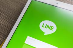CHIANG MAI, THAILAND - OCTOBER 21, 2014: Line application chat message on App - stock photo