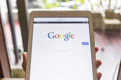 CHIANG MAI, THAILAND - OCTOBER 21, 2014: Google search page view on web brows - stock photo