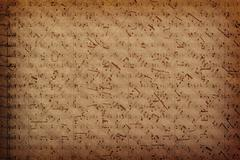 Music notes on fabric texture background - stock photo