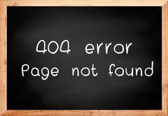 404 error page not found on blackboard. - stock illustration