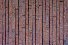 Brick wall background in rural room, grungy rusty blocks of stonework technol - stock photo