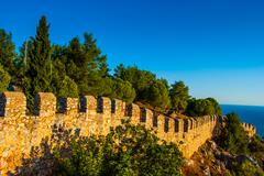 Castle of Alanya Stock Photos