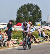 The Cyclist Jean-Christophe Peraud Stock Photos
