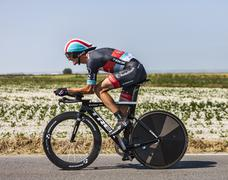 The Cyclist Andy Schleck - stock photo