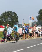 The Cyclist  Jakob Fuglsang - stock photo