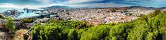 Panoramic view of Malaga city. Andalusia. Spain - stock photo