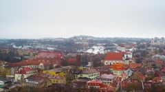 Old Town Vilnius, Lithuania panoramic time-lapse Stock Footage