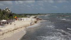 Perfect Day at the Mexico Beach Stock Footage