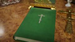 Orthodox Bible - stock footage