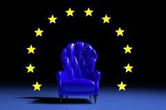 Stock Illustration of Blue european armchair