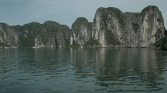A boat cruise through Ha Long Bay Vietnam - Clip X8 - stock footage