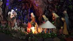 4k Christmas crib decoration chapel Camara de Lobos Madeira Stock Footage