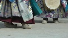 Lamayuru Festival 2013 Close-up feet,Lamayuru,Ladakh,India Stock Footage