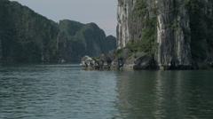 A boat cruise through Ha Long Bay Vietnam - Clip X10 Stock Footage
