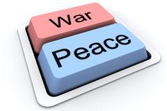Stock Illustration of Peace and War