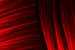 Red curtain texture with lights effects - stock illustration