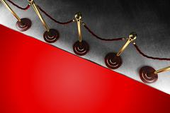 Stock Illustration of Rope barrier with red carpet