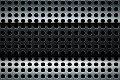 perforated steel texture multilayer - stock illustration