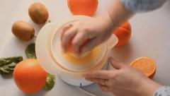 Orange Juice Squeezed Live Stock Footage