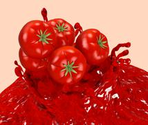 tomatoes and sauce - stock illustration