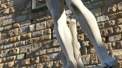 4K Tuscany Toscana Florence David statue from Michelangelo Piazza della Signoria - stock footage