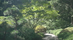 Sunny afternoon in the Portland Japanese Garden, Oregon Stock Footage