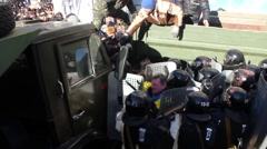 Maidan. Street fight with police. Kiev 16.03.2014 Stock Footage