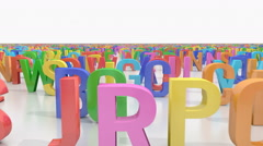 Stock Video Footage of Endless alphabet letters