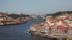 Quarter of Ribeira to Porto . Stock Footage