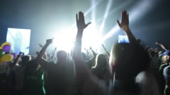 People the crowd at a concert Stock Footage